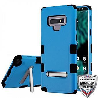 MYBAT TUFF HYBRID PROTECTOR CASE FOR GALAXY NOTE 9 W/ MAGNETIC METAL STAND-NATURAL DARK BLUE/BLACK