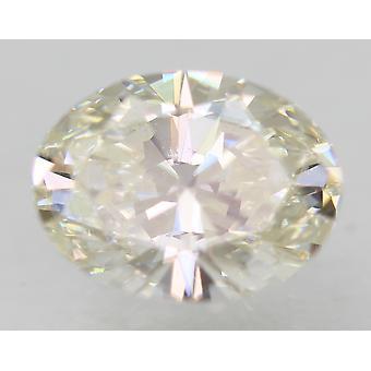 Certified 0.51 Carat I VVS1 Oval Enhanced Natural Loose Diamond 6.08x4.64mm 2EX