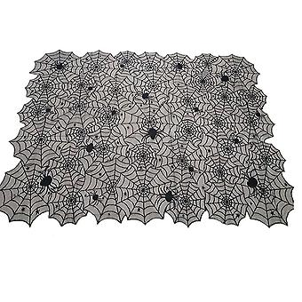 Halloween Decoration Black Lace Spiderweb Table Cloth