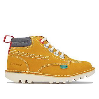 Pojke & apos;s Kickers Barn Kick Hi Stroll Boots i Cream