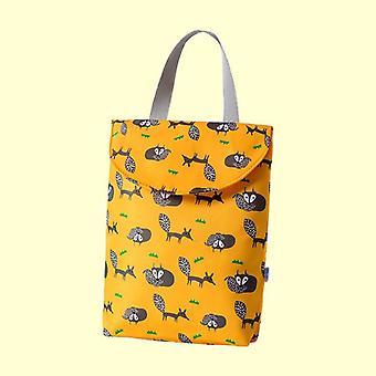 1pc Reusable Waterproof Fashion Prints Wet Dry Bag, Baby Diaper Bag