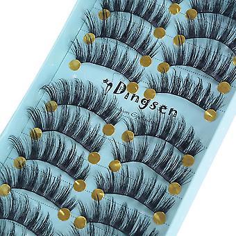 Thick Mink Fake Eyelashes, Natural Look, Long Lasting Extension, Women Eyes