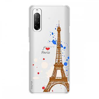 Runko Sony Xperia 10 Ii Silikonissa Taipuisa 1 mm, Pariisin Eiffel-torni