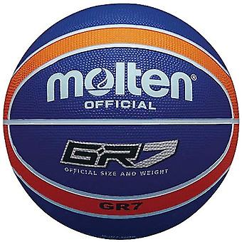 Gerui Official Orange/Blue Rubber Basketball - Size 6