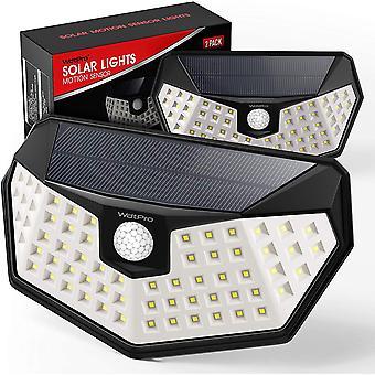 Solarlampen fr Auen mit Bewegungsmelder (2 Stck), WdtPro Upgrade Super Hell Solarleuchten mit Grer