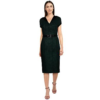 Chic Star Plus Size Trims Retro Dress In Green/Curves