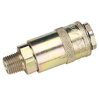 Draper 37833 Bulk 1/4 Male Thread PCL Tapered Airflow Coupling (Sold Loose)