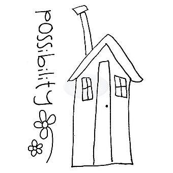 Polkadoodles Sello claro - Casa de la Posibilidad A7