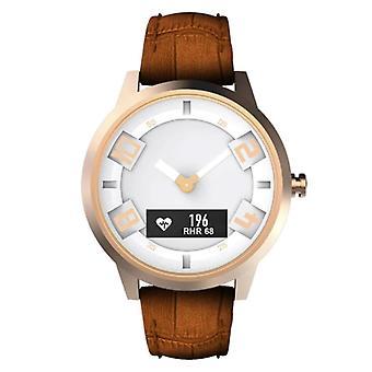 Lenovo Watch X Horloge met Hartslagmeter - Fitness Tracker Sport 80ATM Waterdichte Lederen Band Anologue Movement Smartwatch