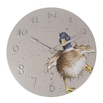 Wrendale Designs Wall Clock Duck Design