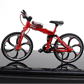 Mini Alloy Bicycle, Model Metal Finger Mountain Bike, Racing Toy, Bend Road