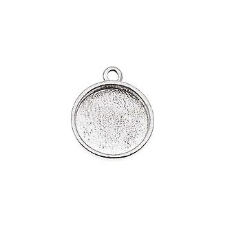Nunn Design Bright Silver Plated Pewter Collage Circle Bezel 1/2 Inch