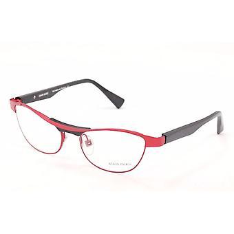 Alain Mikli Eyeglasses AL1220 MOB7 Red Black Metal Plastic France Made 55-17-135