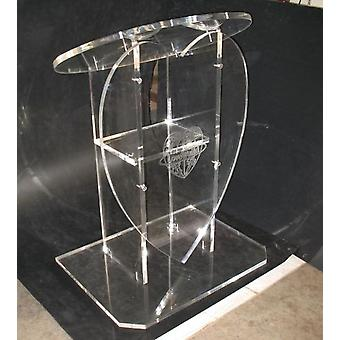 Klar aftagelig akryl Podium Prædikestol Lectern 5795