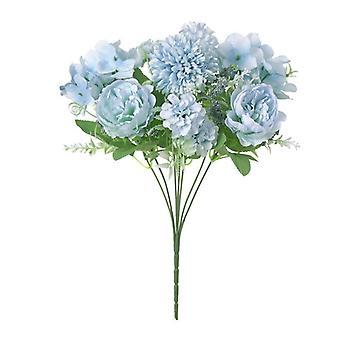 Silk Peony Artificial Flower Bouquet, Fake Flowers For Home, Wedding Interior