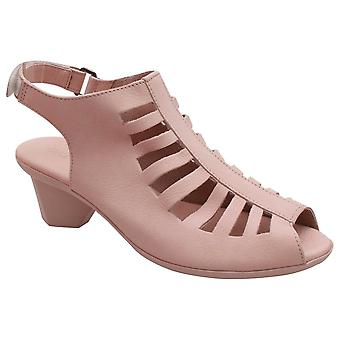 Arche Nude High Front Open Toe Low Heel Sandal