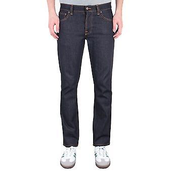 Nudie Jeans Co Grim Tim Slim Fit Jeans - True Navy