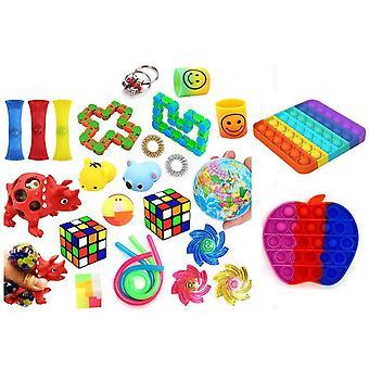 Favor 26st Fidget Set Pack för barn Pop it Stress ball