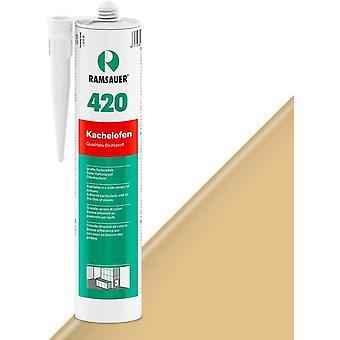 420 Kachelofen - Profi Acryl Dichtstoff für Kachelofenfugen und Anschlussfugen - 310ml Kartusche