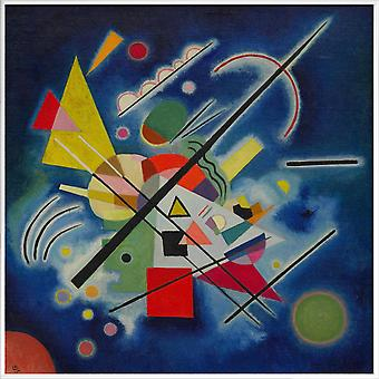 JUNIQE Print - Kandinsky - Blauw Schilderij - Wassily Kandinsky Poster in Blauw & Cream White