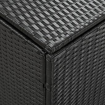 vidaXL Garden Box Poly Rattan 180x90x75 cm Negro