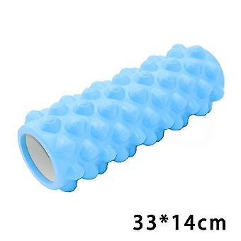 الأزرق رغوة مجوفة الأسطوانة التوازن شريط الحلمة بيلاتس اليوغا العمود x4193