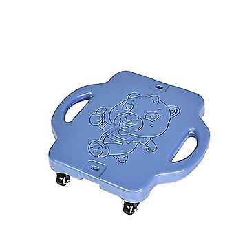 Blauer Kinder Kunststoff Allrad Outdoor Sport Roller az20625
