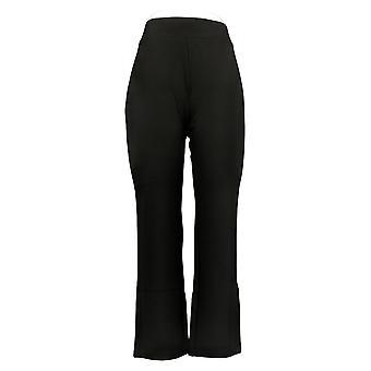 IMAN Global Chic Women's Petite Pants 360 Slim Ponte Boot-Cut Black 722609001
