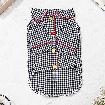 Pet clothes abbigliamento gatto plaid pigiama party