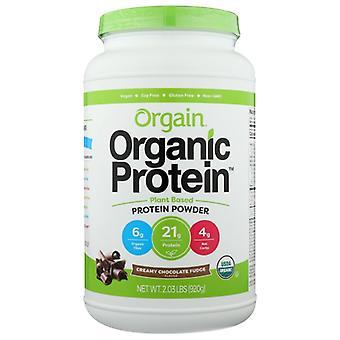 Orgain Biologisch Plantaardig Eiwitpoeder, Romige Chocolade Fudge 2.03 lbs