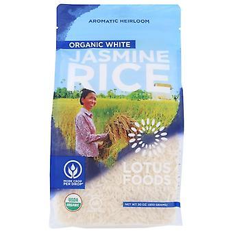 Lotus Foods Rice White Jasmine Org, Case of 6 X 30 Oz