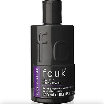 Fcuk Vintage Hair & Body Wash 300ml