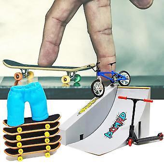 Finger Skate Park Kit Fingerboard Skateboarding Finger Bicyle Fingerspitze Fahrräder Spielzeug für Kinder Geschenk