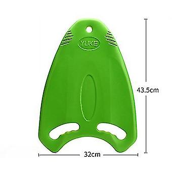 Swim Board With Anti Slip Smooth Edge And Integrated Hole Handle(Green)
