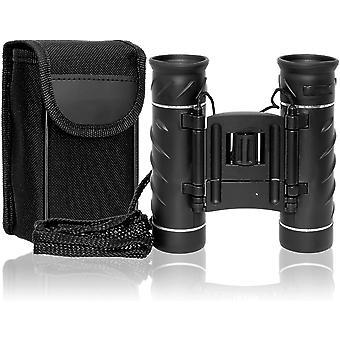 Jumelles binoculaires binoculaires, taille de poche, grossissement 30x, verre optique BAK7, poids seulement: 231 g, compensation de dioptrie jusqu'à - / + 3 dioptrie, boîtier doux au toucher, incl. Sac de rangement,(noir)