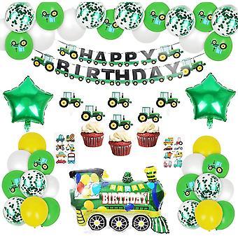 Bagger Kindergeburtstag Deko, Geburtstagsdeko Junge, Happy Birthday Deko Luftballons Flugzeug Zug