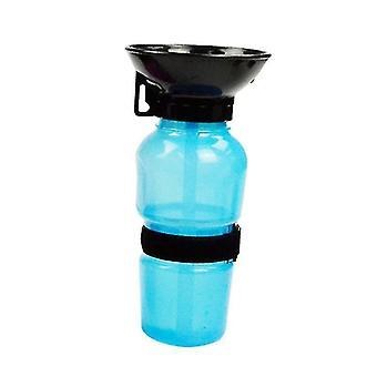 الحيوانات الأليفة الكلب الضغط زجاجة المياه جرو القط السفر في الهواء الطلق الرياضة المياه إبريق المحمولة كأس الشرب (الأزرق)