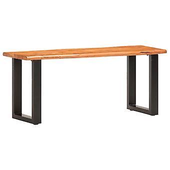 vidaXL Sitzbank mit Naturkanten 110 cm Akazie Massivholz und Stahl