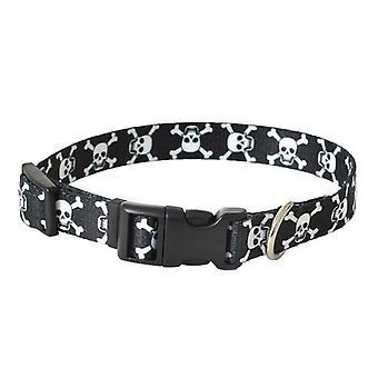 "Pet Attire Styles Skulls Adjustable Dog Collar - 10""-14"" Long x 5/8"" Wide"