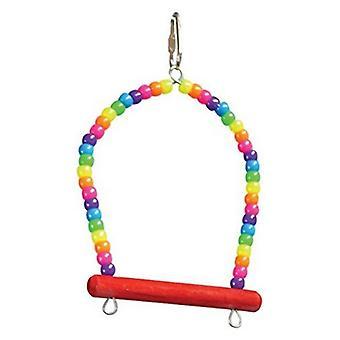 """Zoo-Max Pony Beads Bird Perch - 4""""L x 5""""W"""