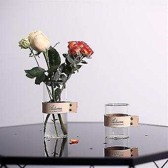 Vases nordic chic multifunctional glass storage organizer jars cream