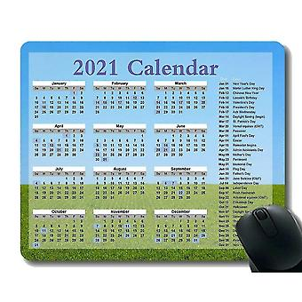 Keyboard mouse wrist rests 260x210x3 gaming mouse pad 2021 year calendar with holiday space moon stars planet science night