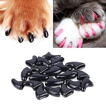 20 buc silicon moale Cat unghii Capace / Cat Paw Claw / Pet Nail Protector / cat Nail Cover