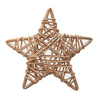 Étoile naturelle simple de rotin de 14cm appropriée pour l'artisanat de Noël