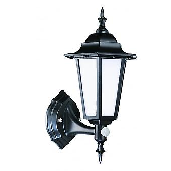 LED Robus Dingle 7W LED Black PIR Coach Wall Lantern