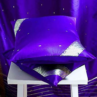 Purple-Decorative handcrafted Cushion Cover, Throw Pillow case Euro Sham-6 Sizes