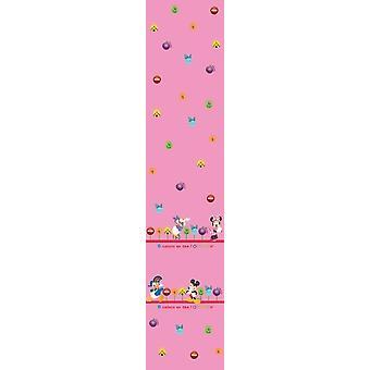 Disney Minnie & venner børnehave Pink Voile gardin