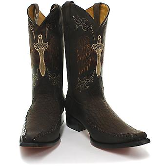Grinders Kansas Mens Leather Western Cowboy Boots  AND COLOURS