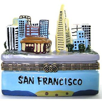 City of San Francisco California City View Hinged Trinket Box phb
