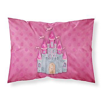 Princess Castle Watercolor Fabric Standard Pillowcase